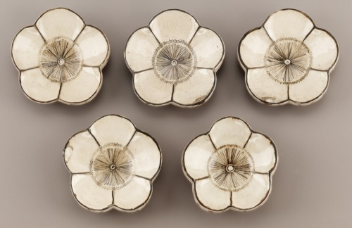 Plum Blossom Saucers, 19th C; Kyoto