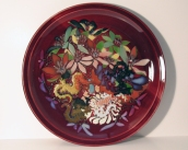 Victor Babu, Copper Red Charger with Lizards ~ 2007