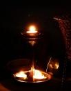 iron lamp w. tealight ~ china