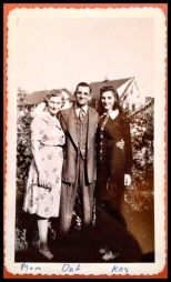 Grandma Kay with her Mother and Father ~ 1963