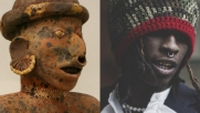 Left: Male Ancestor. 1st–4th century. Mesoamerica. Nayarit - Right: Young Thug