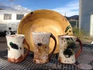 still. mugs.. w. yellow bowL .8.2o14