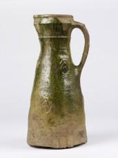Lead-glazed earthenware jug, probably made in Surrey, 1300-1325.