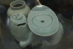 Celadon incense holder, Korea. Victoria & Albert Museum Ceramics Gallery