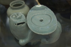 Celadon incense holder, Korea. Victoria & Albert Museum Ceramics Gallery