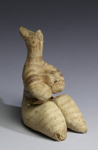 Tell Halaf Fertility Figurine. Terracotta with traces of pigment. 5000-4000 BC, Syria. The Walters Art Museum, accession number 48.2741.
