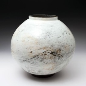 MOON JAR Lee Kang-hyo Nationality: Korean Date of Work: 2013 Height (cm): 37 Width (cm): 39 Short Description: Punch'ong
