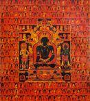 The Dhyani Buddha Akshobhya, Tibetan thangka, late 13th century, Honolulu Academy of Arts